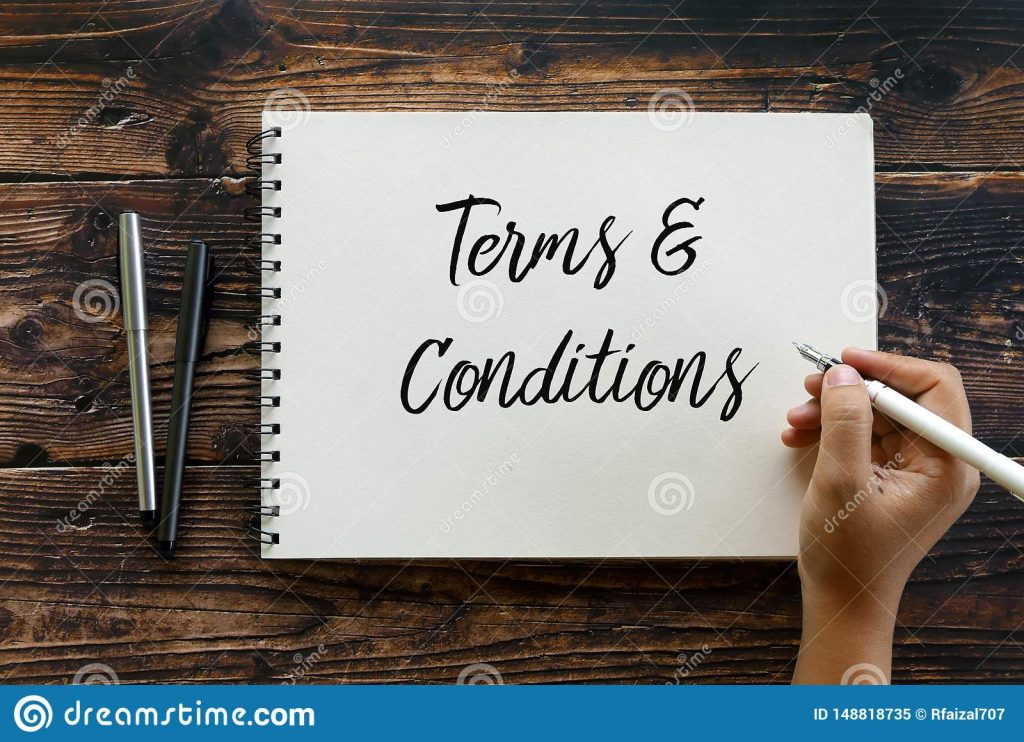 Legal Policies and Statements, Terms and Conditions